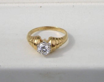 Lovely Costume Lind 14K HGE CZ Ring  size 11