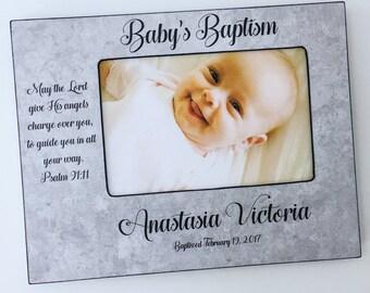 baptismal picture frame christening picture frame personalized baptism frame babys baptism