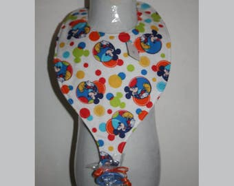 "Baby Bibs, Pacifier Bibs, Bibs with Pacifier, Bibs, Pacifier, "" Mickey Mouse"""