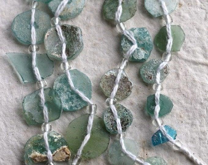 sale .. ANCIENT ROMAN GLASS No. 218 .. Genuine Antique Roman Glass Fragment Beads (rg-218)