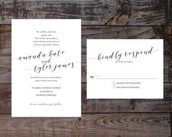 Modern Wedding Invitations, Unique Wedding Invitations, Calligraphy Wedding Invitations, Custom Wedding Invites, Cool Wedding Invitations
