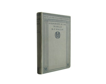 A Geography of the World - antiquarian illustrated reference from 1911 - Free US Shipping