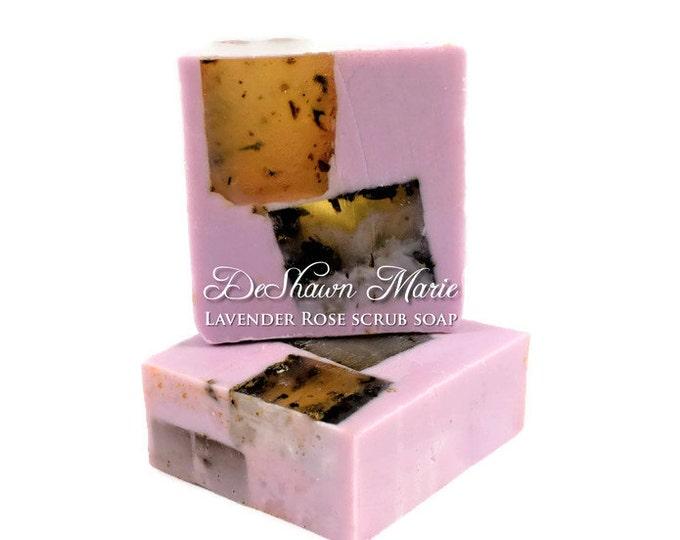 Lavender Rose Handmade Scrub Soap
