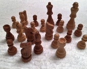 Wooden Chess Pieces, Wood Pieces for Crafts, Wood Findings, Vintage Game Pieces, Upcycled Crafting Supplies, Junk Carvings, Odds and Ends