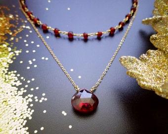 Set of TWO gemstone choker necklaces, layering set, birthstone jewelry, Otis B Etsy, Custom stones, beaded chokers, layered necklaces set