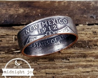 New Mexico Coin Ring Double Sided State Quarter Your Size MR0705-TSTMN