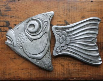 Pewter Fish Handles, Lee Valley Tools Handles, Pewter Fish, Kitchen Platters, Lake House Decor, Hunting and Fishing, Made in France, DIY