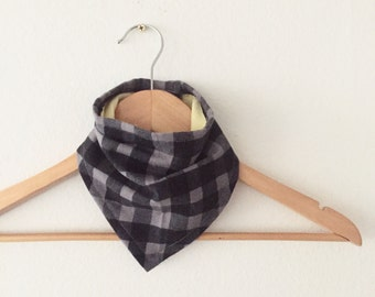 Buffalo Plaid Bibdana, Bandana Bib for Baby, Baby Shower Gift, Lumberjack Plaid