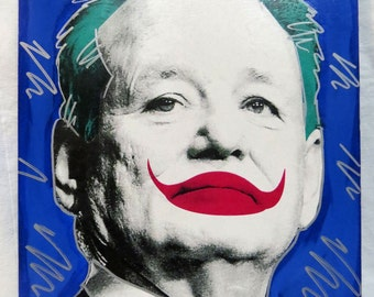 Bill Murray is the Joker 12x16 Screenprinted Panel