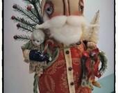 Primitive Folk Art Christmas Papa Noël Doll by Grimitives