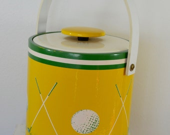Vintage GOLF Themed ICE BUCKET packer colors