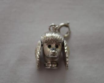 Vintage POODLE Charm silver metal charm bracelet french poodle