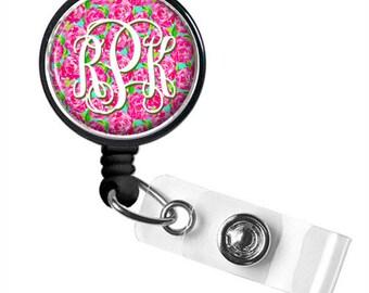 Badge Reel, Nurse Retractable Badge Reel, Personalized Badge Reel, ID Badge Reel (708)