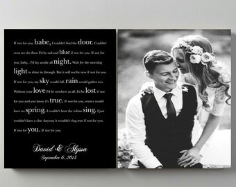 First Dance Lyrics Vows lyrics Wedding Anniversary Canvas art Song Lyrics Couples gift Music Art gift for him Wedding Song wedding photo