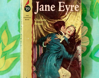 Jane Eyer by Charlotte Bronte Cardinal 1953 Rare Pulp Fiction Pocket Edition