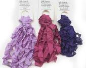 Vintage Seam Binding Ribbon, Ruffled Seam Ribbon, Jewelry Ribbon, Purple Ribbon, Ruby Ribbon, One 5 Yard Bundle, You Choose Color, Dry Gulch