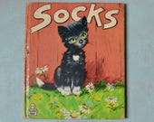 Vintage 1949 SOCKS Ryan Winship Whitman Tell-A-Tale Book
