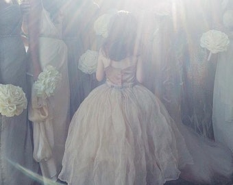 The Lauren Flower Girl Dress- Blush (More Colors Available)