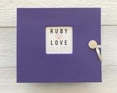 BABY BOOK | Solid Purple Album - Ruby Love Modern Baby Memory Book