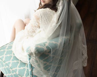 Juliet cap veil, wedding cap veil, juliet lace cap veil, juliet veil, juliet wedding veil, lace trim cathedral veil, cathedral veil, veil,