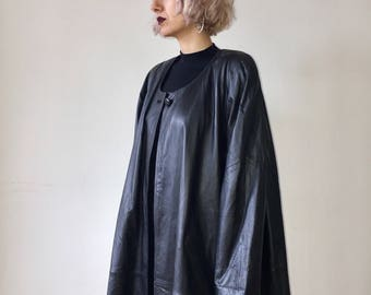 Oversize Leather Duster