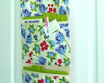 Wall or Door Hanging Organizer in a Floral Design