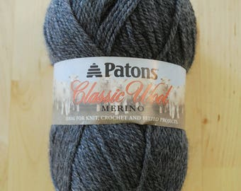 Patons Classic Wool Merino Yarn - Dark Grey Mix