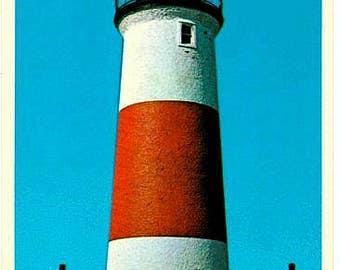 Vintage Nantucket Postcard - Sankaty Head Light (Unused)