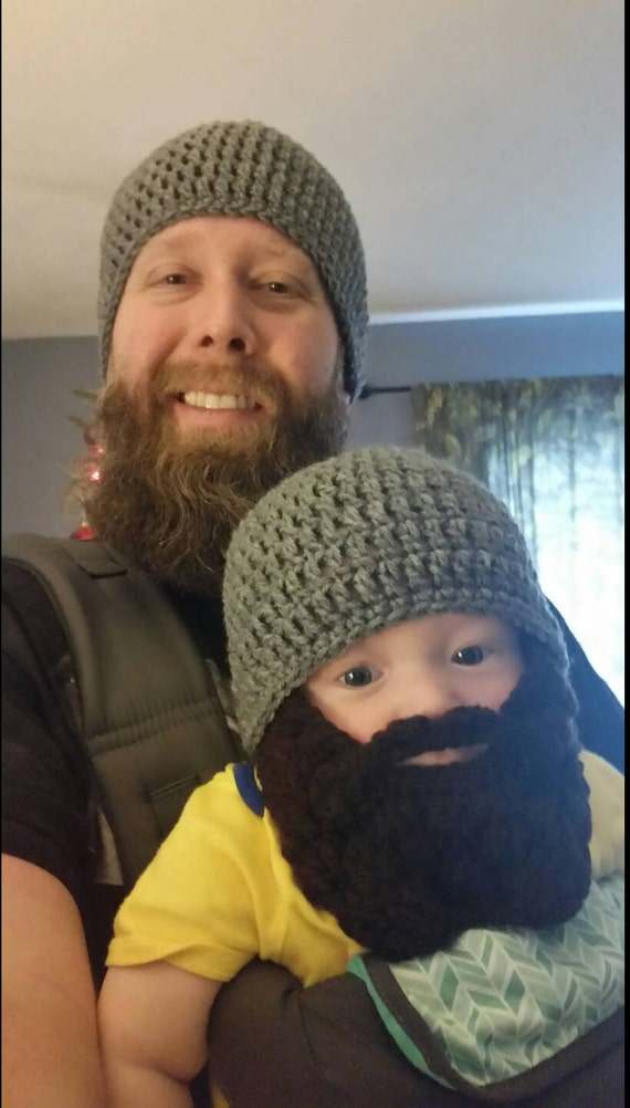 Father Son Matching Outfit Hats Bearded Father Baby Boy Matching Father's Day Gift Baby Boy Beard My First Halloween Costume Lumberjack
