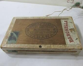 Wood Cigar Box Baronella A Pleasing Smoke 9th Dist State of Pensylvania
