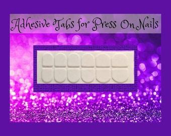 Adhesive Tabs for Press On Nails- Choose Regular or Petite Size, Tape, Nail Art, Adhesive, Press On Nails, False Nails, Costume, Cosplay