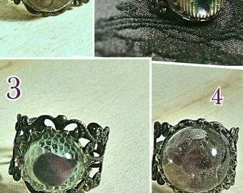 Steampunk pretty adjustable filigree rings