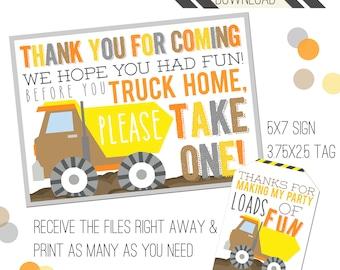 Construction Party Printables   Construction Favor Tags   Favor Sign   Favor Tags   Dump Truck Party   Dump Truck Tags   Dump Truck Party