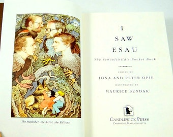 I Saw Esau -The Schoolchild's Pocket Book. Illustrated by Maurice Sendak. First American Edition