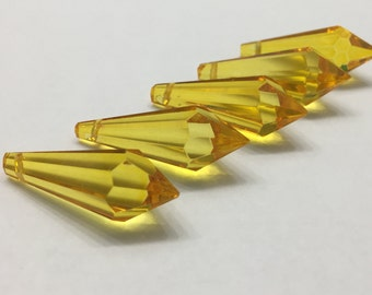5 - 38mm Yellow Icicles
