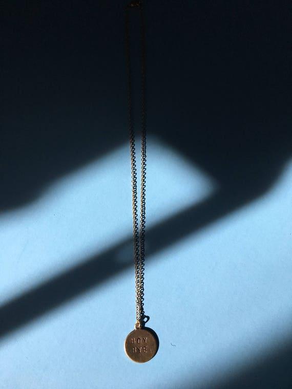 Boy bye beyonce charm necklace