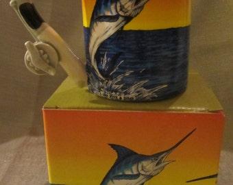 Sale 50% ~ Blue Marlin Ceramic Mug - Item 4119