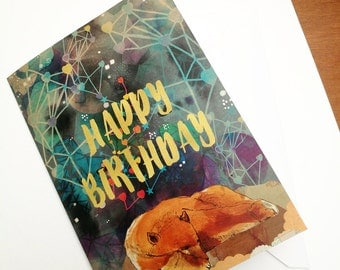 Happy Birthday Bear Greeting Card - Birthday Card for Children -Illustrated Card - Paper Goods- Stationery