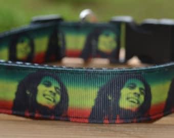 Bob Marley dog collar & leash