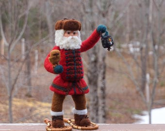 Christmas Needle Felted Santa Claus or Father Christmas OOAK Soft Sculpture by McBride House