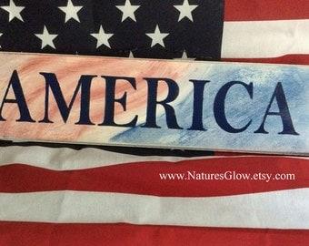 America Sign, Americana Decor, Patriotic Decor, 4th of July Decor, Americana Signs, Patriotic Sign, July 4th Decor, America Decor, USA Decor