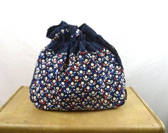 Awesome Beaded Vintage Kitschy Bag Drawstring Pouch Tote