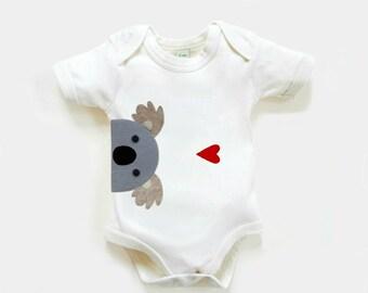 Organic Baby Koala Bodysuit : Organic Baby Shower, Organic Bodysuit