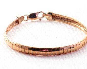 Vintage Sterling Silver and Rose Gold Vermeil Bracelet (BR-2-4)