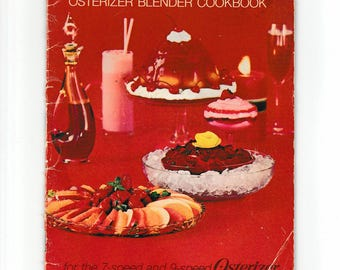 Vintage Cookbook Spin Cookery Osterizer Blender 1969 Pamphlet Booklet