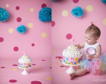 Candyland Tutu Dress, Rainbow Birthday Tutu Dress Set, Baby Girls Pastel Rainbow Dress