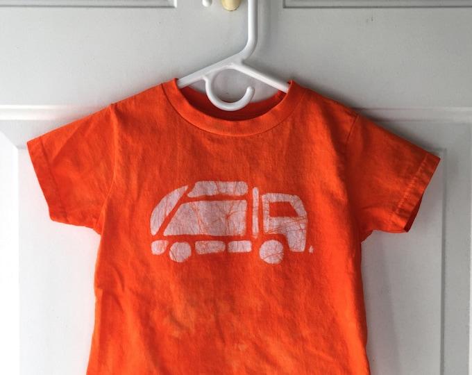 Garbage Truck Shirt, Kids Truck Shirt, Boys Garbage Truck Shirt, Orange Truck Shirt, Girls Truck Shirt, Boys Truck Shirt, Orange Shirt (3T)