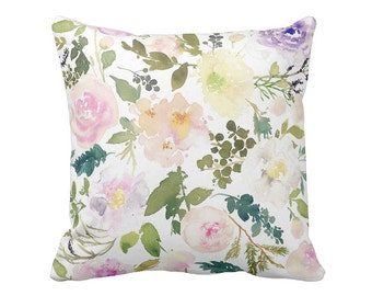 Pillow Cover Floral Green Wildflowers