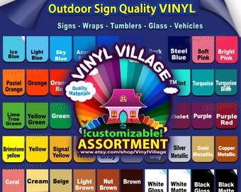 "10 rolls 6""x5feet Adhesive Backed Vinyl YOU PICK COLORS Outdoor sign quality, Craft cutter wraps, tumblers, glass, vehicle lot vinyl_village"