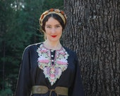 Free Size/Size L/XL... Embroidered Tunic... Gypsy Dress.... Gorgeous Embroidery